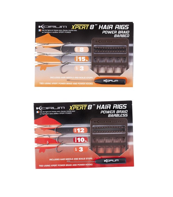 Korum Power Hair Rigs Väkäsällä 3kpl